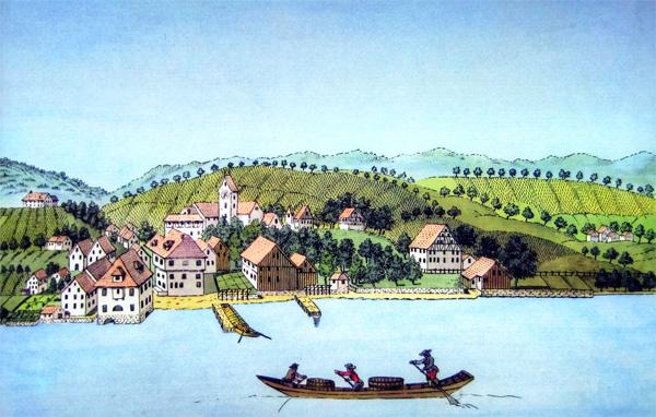 Ansicht im Jahre 1793 von Heinrich Bruppacher