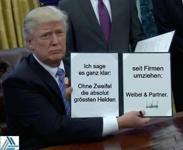 Trump mit Vertrag