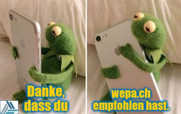 Kermit mit iPhone