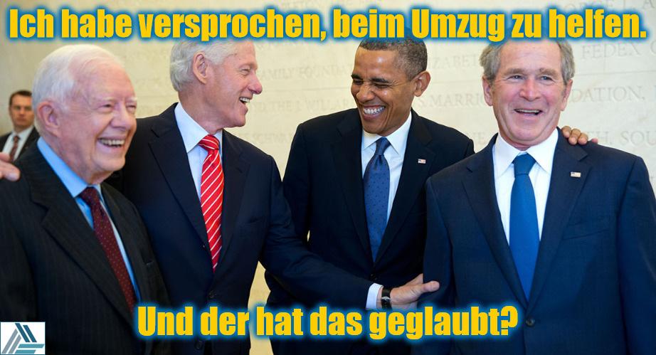 Lachende Präsidenten